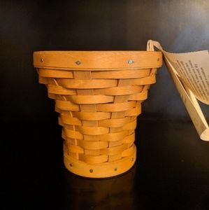 """NWT 2009 Longaberger 4"""" Flower Pot Basket w/liner"""